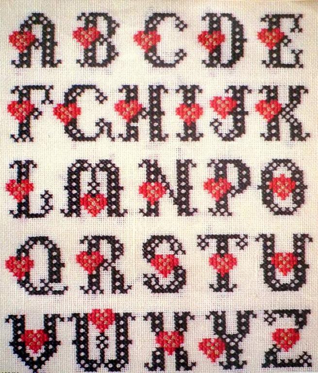Hearts alphabet-1