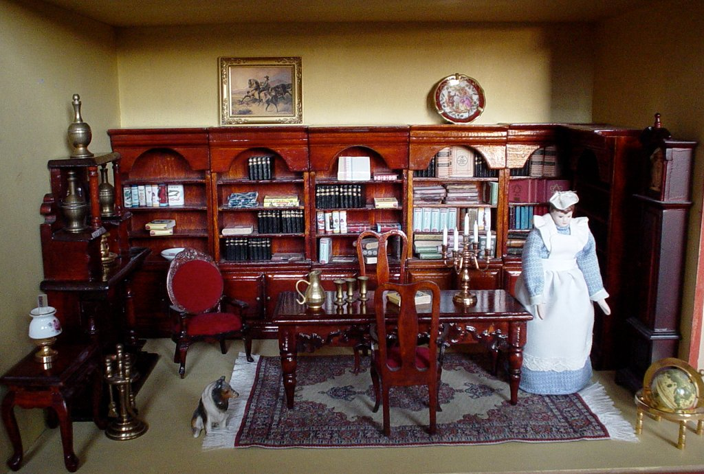 Victorian library room