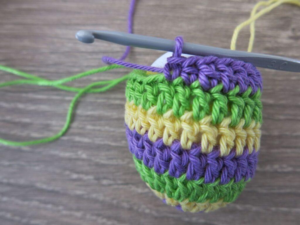 Crocheted eggs