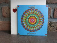 Mandala coloring and decorating