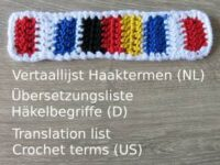 Translation list crochet terms